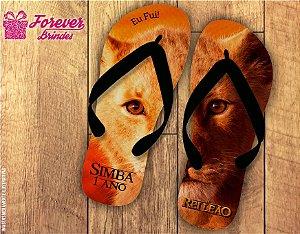 Chinelo Personalizado Infantil Do Rei Leão