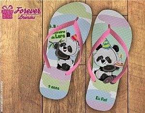 Chinelo Personalizado Aniversário De Panda
