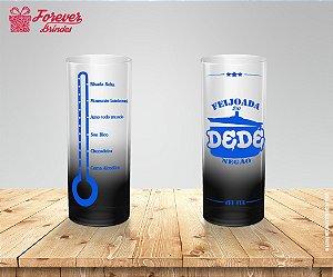 Copo Long Drink Degradê De Feijoada Azul