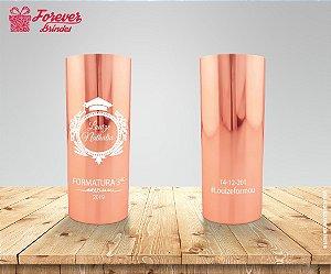 Copo Long Drink Rose Metalizado De Formatura