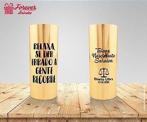 Copo Long Drink Metalizado Dourado De Direito