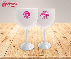 Taça Gin Personalizada Good Vibes Rosa