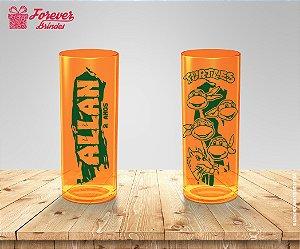 Copo Long Drink Personalizado Das Tartarugas Ninja