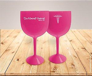 Taça De Gin Rosa Personalizada De Medicina