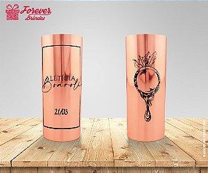- Copo Long Drink Metalizado Rose Formatura Designer Grafico
