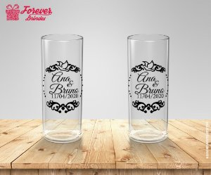 Copo Long Drink Transparente  Personalizado Casamento