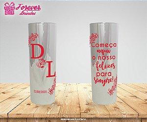 Copo Long Drink Metalizado De Casamento