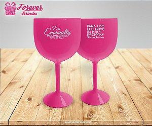 Taça de Gin Rosa Formatura de Nutrição