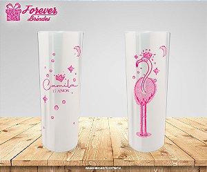 Copo Long Drink Aniversário 15 Anos Flamingo