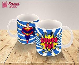 Caneca De Porcelana Super Pai