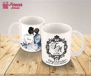 Caneca De Porcelana Casamento Amor Eterno