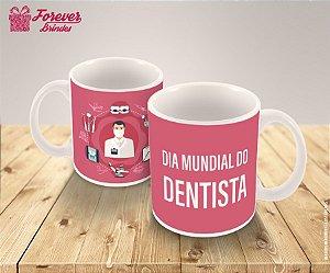 Caneca de Porcelana Dia Mundial do Dentista