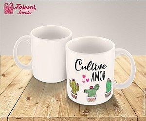 Caneca de Porcelana Cultive Amor