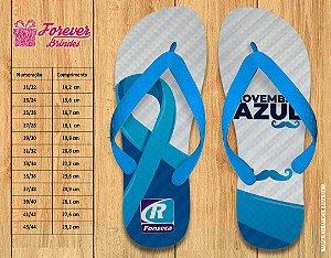 Chinelo Empresarial Personalizado Novembro Azul