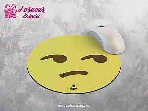 Mouse Pad Redondo Emoji Rabugento