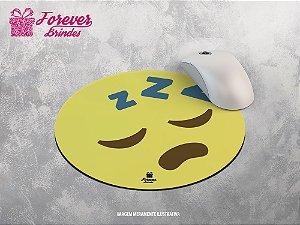 Mouse Pad Redondo Emoji Adormecido