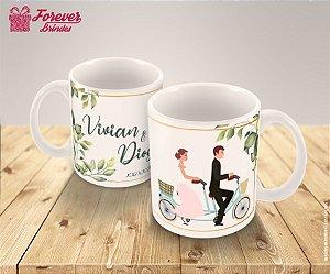 Caneca Porcelana Recém Casados