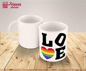 Caneca Porcelana Personalizada Love