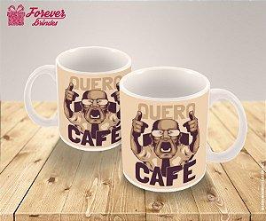 Caneca Porcelana Personalizada Quero Café