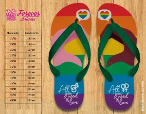 Chinelo Casamento All You Need Is Love