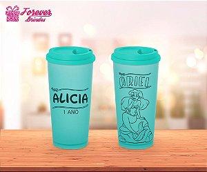 Copo Café Princesa Ariel