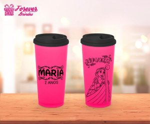 Copo Café Princesa Rapunzel