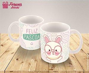 Caneca Porcelana Páscoa Coelhinho