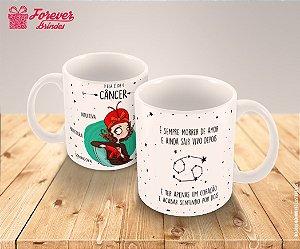 Caneca Porcelana Signo Câncer