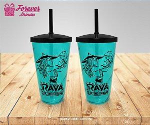 Copo Twister Com Tampa e Canudo Princesa Raya
