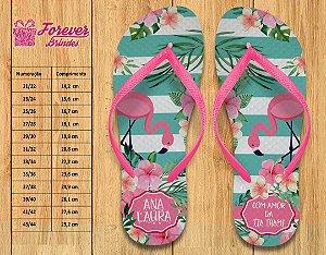 Chinelo Personalizado Flamingos