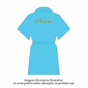 Robe Básico Azul Turqueza