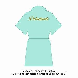 Robe Debutante Verde Tiffany