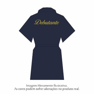Robe Debutante Azul Marinho