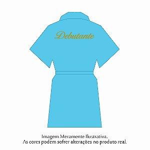 Robe Debutante Azul Turqueza