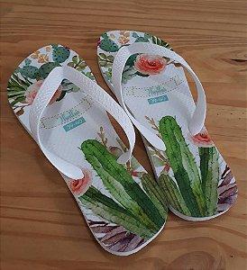 Chinelo Personalizado Coleção Cactus