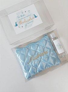 Kit Convite Madrinha Batismo Azul