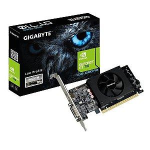 Placa de Vídeo Gigabyte Geforce GT 710 1GB DDR5 64 Bits