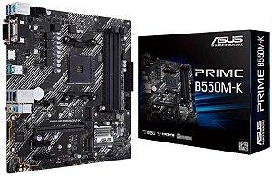 Placa Mãe Asus PRIME B550M-K, AMD AM4, mATX, DDR4 - 90MB14V0-M0EAY0