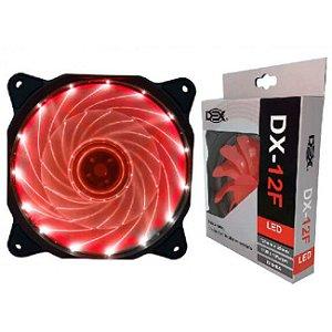 Cooler Fan 120MM Com Led Vermelho DX-12F
