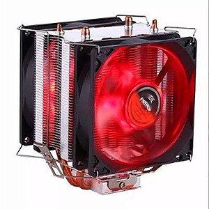 Cooler Duplo Gamer Vermelho Intel e AMD DX 9100D
