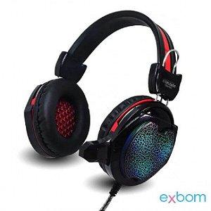 HeadPhone Gamer com Microfone e Iluminação - GH-X10
