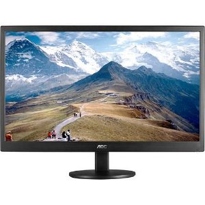 Monitor AOC 21,5' LED Full HD Widescreen Ultra Slim E2270SWN Preto Full HD