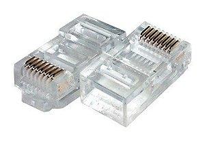 Conector de Rede RJ45 Pacote 10 Unidades