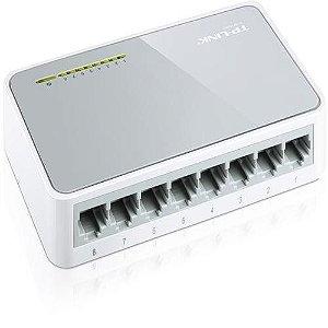 Hub Switch de Mesa de 8 portas de 10/100Mbps
