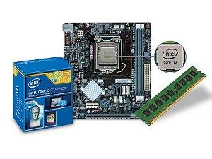 PLACA MAE COM PROCESSADOR INTEL CENTRIUM C2014-H81H3-M4 CORE I3-4160 3.60GHZ DDR3 1600MHZ H81 HDMI VGA + MEMORIA 4GB 1333MHZ DIMM