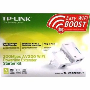 Adaptador Powerline TP-Link Tl-WPA2220kit AV200 300Mbps Wifi