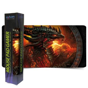 MOUSE PAD DRAGAO GAMER EXTRA GRANDE GAME MEDIDA 700X350X3MM MP 7035A SPEED
