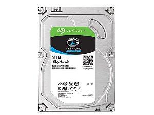 "HD 3TB 3,5"" Seagate  SkyHawk ST3000VX010 Sistema Seguranca Vigilancia"