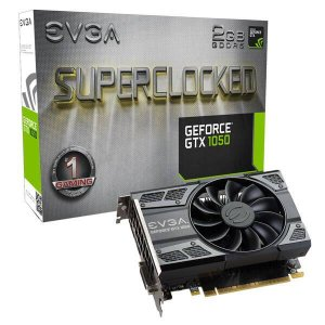PLACA DE VÍDEO EVGA GEFORCE GTX 1050 2GB GDDR5 128 BITS SUPERCLOCKED