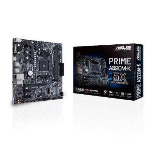 PLACA MÃE ASUS PRIME A320M-K AM4 CHIPSET AMD A320 DDR4 2400MHz VGA/HDMI/RGB